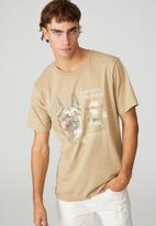 Cotton On - Tbar art T-shirt - gravel stone