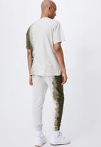 Cotton On - Trippy slim trackie - military/moss stone dip dye