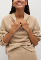 MANGO - Trousers tammy - light beige