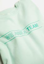 MANGO - Team sweatshirt - mint