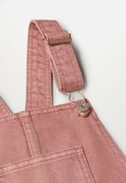 MANGO - Shaila dungaree dress - pink