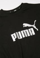 PUMA - Ess+logo silhoutte tee - black