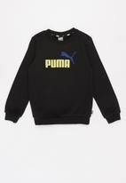 PUMA - Ess big logo crew - black