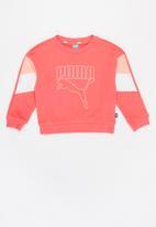 PUMA - Girls crew sweater - coral