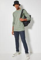 Superbalist - Nate recycled long sleeve crew neck tee - green