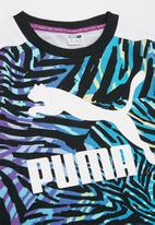 PUMA - Classics safari t7 aop crew sweater - black