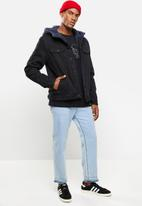 Cotton On - Hooded borg jacket - black