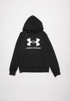 Under Armour - UA boys rival fleece hoodie - black