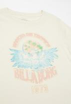 Billabong  - Girls tropics tee - off white
