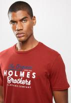 Holmes Bro's - Original holmes ss tee - dark red