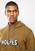 Holmes Bro's - Lazy cat pullover hoody - tobacco