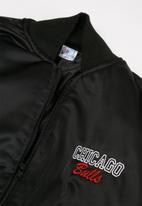 NBA - Bulls icon logo bomber jacket - black & red
