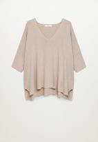 MANGO - Sweater guiroa - light brown