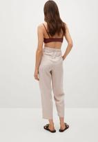 MANGO - Trousers nature - light beige