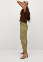 MANGO - Trousers nature - khaki