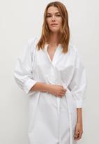 MANGO - Dress prado - white