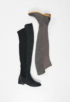 Miss Black - Krabi over the knee boot - grey