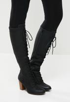 Miss Black - Ahlam knee length boot - black