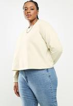 Blake - Cropped sweater Creme Brulee plus - beige