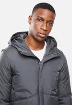 STYLE REPUBLIC - Hooded puffer jacket - dark grey