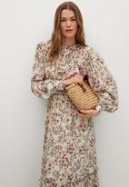 MANGO - Skirt farm - light beige