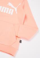 PUMA - Ess logo fleece hoodie - apricot blush