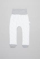 Little Lumps - Ribbed leggings - grey & white