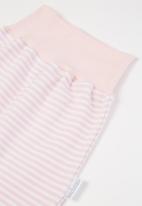 Little Lumps - Ribbed leggings - pink & white
