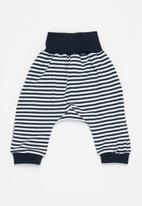 Little Lumps - Slouch pants - navy & white