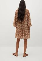 MANGO - Dress fresa - orange & brown