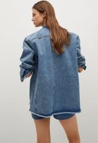 MANGO - Overshirt maia - blue