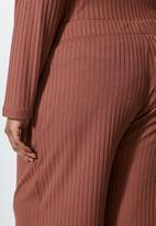 Superbalist - Knit rib wide leg - dark pink