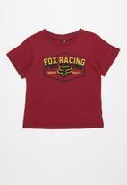 Fox - Foundation short sleeve tee - cranberry