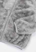 Baby Star - Fluffy zip through jacket - grey