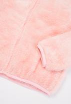 Baby Star - Fluffy zip through jacket - pink