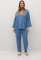 Violeta by Mango - Plus blouse night - blue