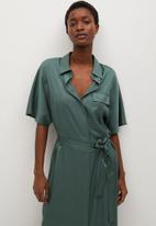MANGO - Dress marita - green
