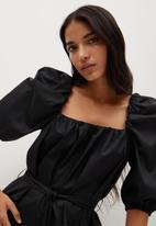 MANGO - Dress pope - black