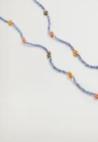 MANGO - Sarabi mask necklace - gold