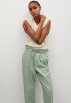 MANGO - Trousers luck - light green