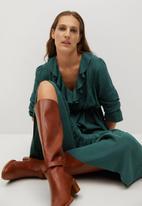MANGO - Dress noir - green