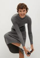MANGO - Dress flus - grey