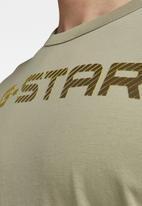 G-Star RAW - G-star r t short sleeve - green