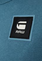 G-Star RAW - Badge logo short sleeve tee - blue