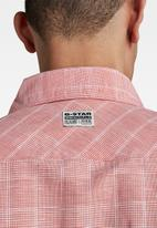 G-Star RAW - Marine service slim long sleeve shirt - red