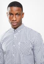 Ben Sherman - Multi ging shirt - grey & white
