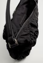 MANGO - Ruffle bag - black