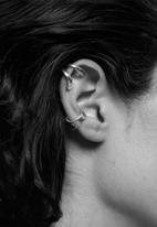 MANGO - Gormley earrings - silver