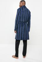 Brave Soul - Stripe dressing gown - navy