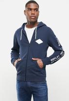 Replay - Replay zip thru hoodie - navy